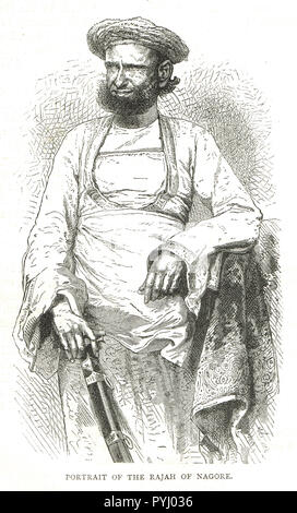 The Rajah of Nagore, India, 19th Century - Stock Image