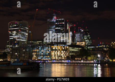 London city in the night - Stock Image