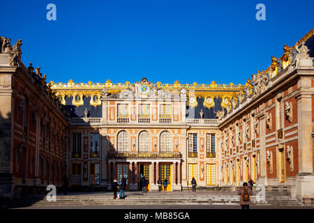 Chateau de Versailles (Palace of Versailles), a UNESCO World Heritage Site, France - frontal aspect - Stock Image