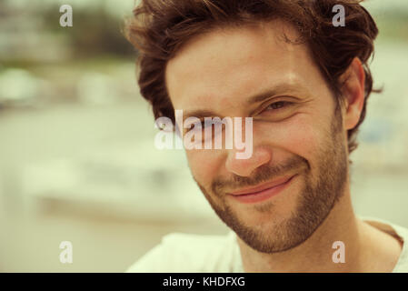 Mid adult man, portrait - Stock Image