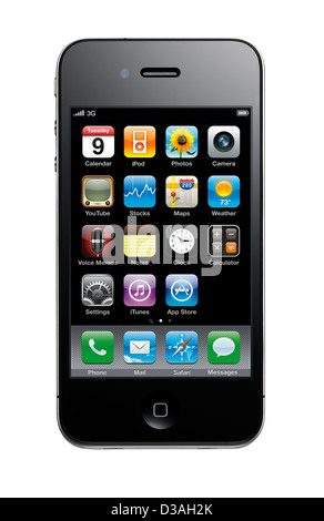 A cut out shot of an iPhone 4 - Stock Image