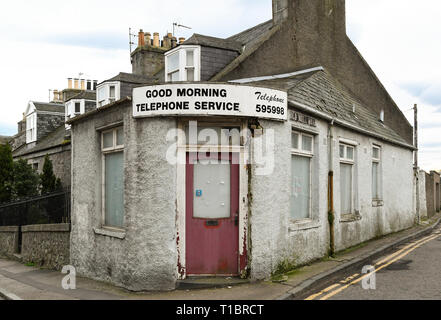 Good Morning telephone service, a telephone befriending service in Aberdeen, Scotland, UK - Stock Image