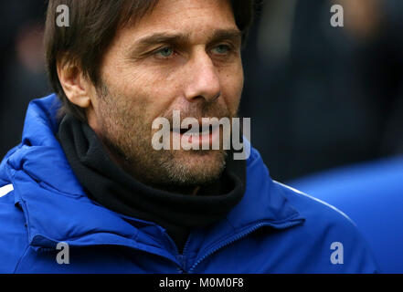 Chelsea manager Antonio Conte during the Premier League match between Brighton and Hove Albion and Chelsea at the - Stock Image