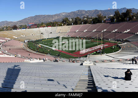 Pasadena, CA. 01st Jan, 2016. A general view of the stadium during the 2016 Rose Bowl game between the Stanford - Stock Image