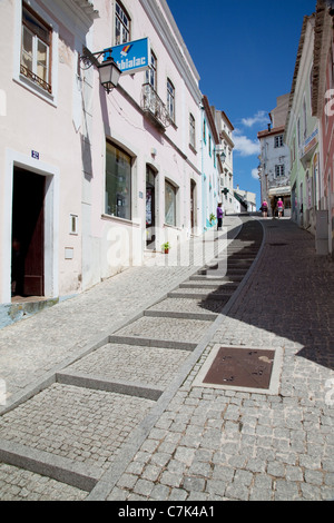 Portugal, Algarve, Monchique, Backstreet & People - Stock Image