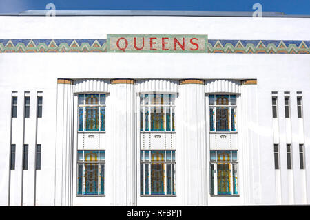 Art Deco Queens Building, Bishop's Bridge Road, Bayswater, City of Westminster, Greater London, England, United Kingdom - Stock Image