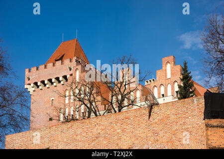 The Royal Castle in the old town of the Polish city of Poznan Poland dating from 1249 - Stock Image