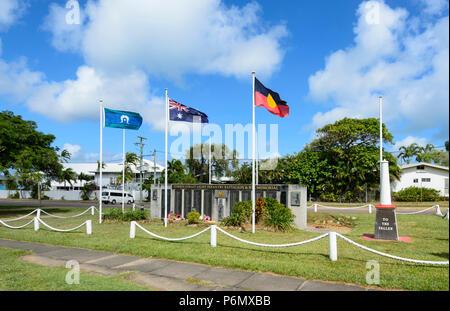 War Memorial to the Fallen, Thursday Island, Far North Queensland, FNQ, QLD, Australia - Stock Image