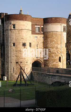 Byward Tower of the Tower of London - Stock Image