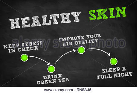 Healthy skin tips - Stock Image