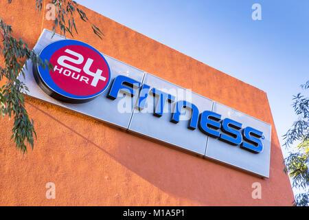 24 hour fitness center in Irvine California USA - Stock Image