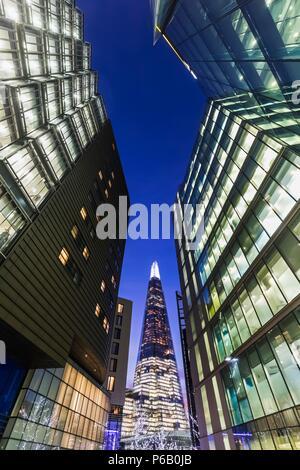 England, London, Southwark, London Bridge City, More London Riverside Office Complex and The Shard - Stock Image