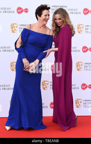 LONDON, UK. May 12, 2019: Fiona Shaw & Jodie Comer arriving for the BAFTA TV Awards 2019 at the Royal Festival Hall, London. Picture: Steve Vas/Featureflash - Stock Image