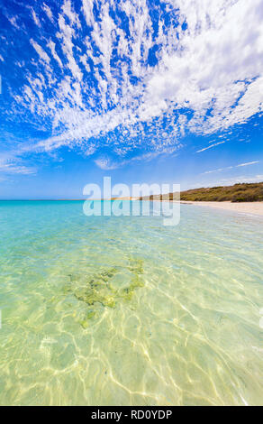 Coastline and beach at Coral Bay in Western Australia - Stock Image
