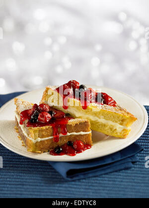 Stuffed Berry French Toast - Stock Image