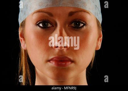Nurse close up   Ref: CRB425_10046_086  Compulsory Credit: Synercomm/Photoshot - Stock Image
