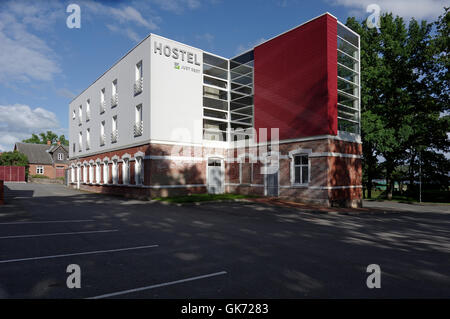Automatic Hostel Just Rest in Ranna puiestee 6, Viljandi. Estonia - Stock Image