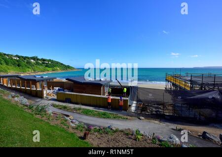 Carbis Bay Hotel, seafront holiday development,Cornwall,England,UK - Stock Image