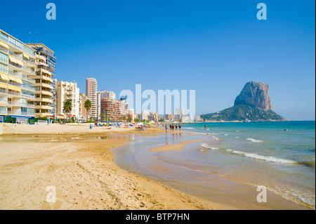 Calpe, Beach, Costa Blanca, Spain - Stock Image