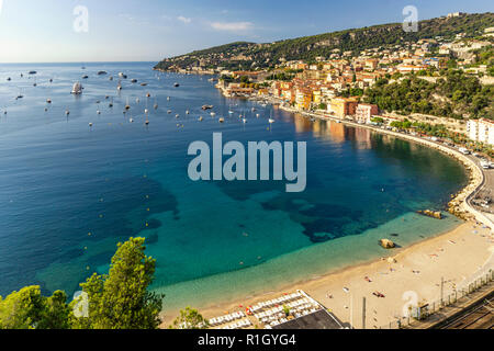 French Reviera, Villefranche sur Mer, Panorama - Stock Image