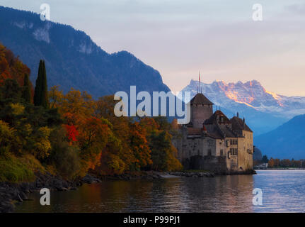 Chillon Castle - Stock Image
