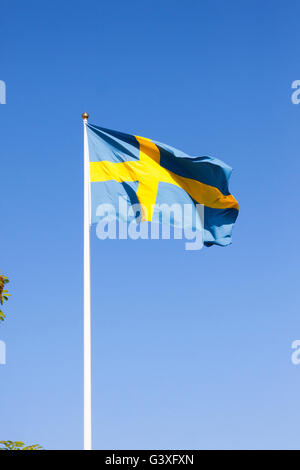 Flag sweden blue yellow - Stock Image