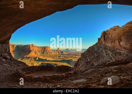 Canyonlands National Park Lost Kiva - Stock Image