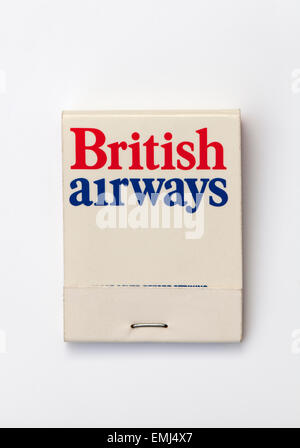Vintage Matchbook advertising British Airways - Stock Image