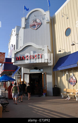 Bubba Gump restaurant in Galveston, Texas, USA - Stock Image