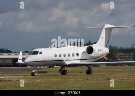 TAG Aviation Gulfstream Aerospace G-IV-X Gulfstream G450 at Farnborough. - Stock Image