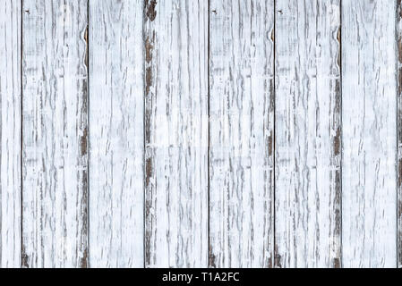 Bright white wooden texture backdrop. Image shot from overhead view. - Stock Image