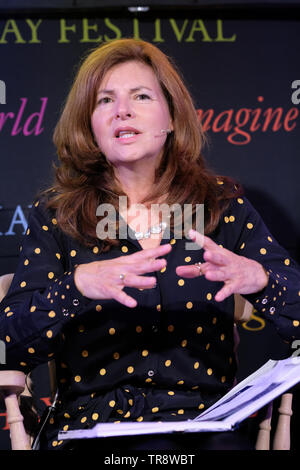 Hay Festival, Hay on Wye, Powys, Wales, UK - Friday 31st May 2019 - Grainne O'Reilly, Principal of Ruskin Mill College at the Hay Festival talking about Neurodiversity and Autism - Acceptance and Inclusion.  Photo Steven May / Alamy Live News - Stock Image