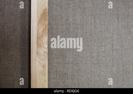 Detail of canvas, linen cloth and wood frame. Pattern for the artistic painting. - Stock Image