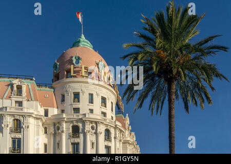 Hotel Negresco, Promenade des Anglais, Nice, Alpes Maritimes, Provence, French Riviera, Mediterranean, France, Europe, - Stock Image
