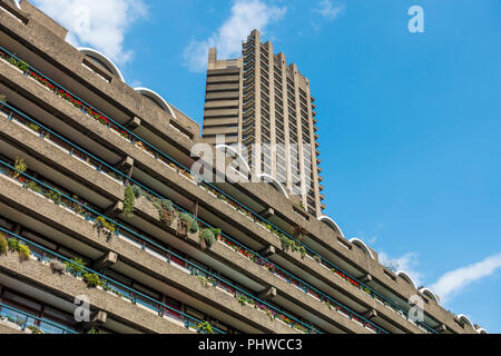 Apartments,Barbican Centre,Shakespere Tower,London,England,UK - Stock Image