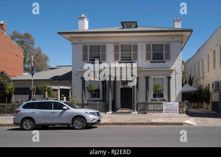 Montrose House, part of the heritage listed Gaskill Steet in the town of Canowindra in the Central West region of New South Wales, Australia, - Stock Image