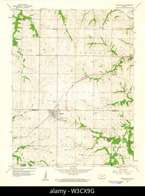 USGS TOPO Map Kansas KS Nortonville 512132 1960 24000 Restoration - Stock Image