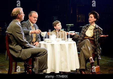 Left to right: Andrew Havill as Warnie, Hugh Bonneville as C.S. Lewis, Eddie Martin as Douglas Gresham & Liz White as Joy Gresham in Shadowlands... - Stock Image