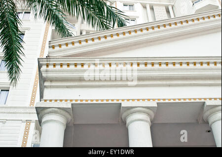 Part of a modern hotel with roman style architecture - Stock Image