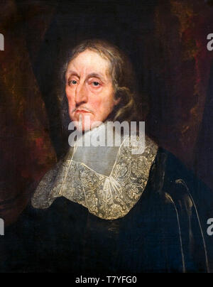 Anthony van Dyck, Portrait of a man (Oliver Cromwell), c. 1660 - Stock Image