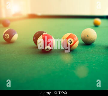Pool balls - Stock Image