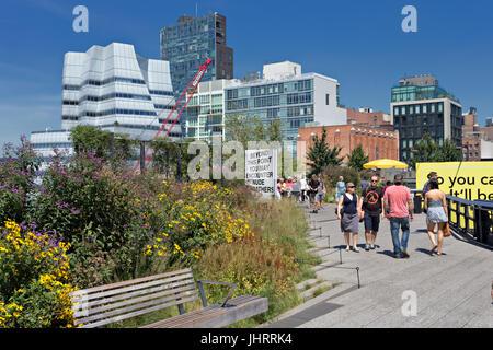 High Line Park in Manhattan - Stock Image