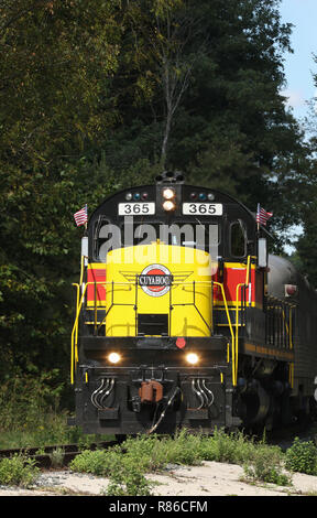 Diesel locomotive ALCOA C420 number CVSR 365. Operated as special event on the Cuyahoga Valley Scenic Railroad. Peninsula Depot, Cuyahoga Valley Natio - Stock Image