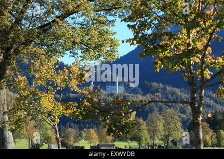 Castle Neuschwanstein, Ammergau Alps, Allgaeu, Bavaria, Germany, Europe - Stock Image