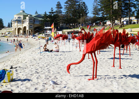 Artwork on display at the 2015 Sculpture By the Sea event. Cottesloe Beach, Perth, Western Australia. - Stock Image
