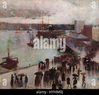 Charles Conder   Departure of the Orient   Circular Quay   Google Art Project - Stock Image