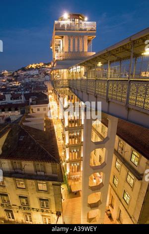 Lisbon Elevator Santa Justa - Stock Image