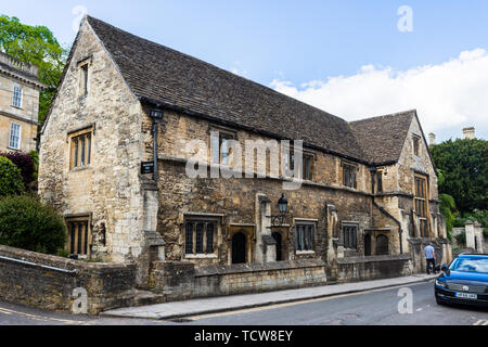 Wallington hall in Bradford on Avon originally a church house then a free school before being used jointly by the church and free masosn - Stock Image