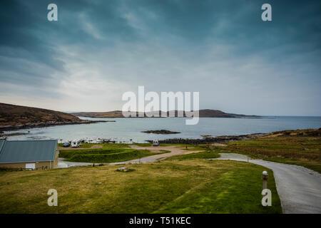 Port Beag campsite, Altandhu, Summer Isles, west coast of Scotland. - Stock Image