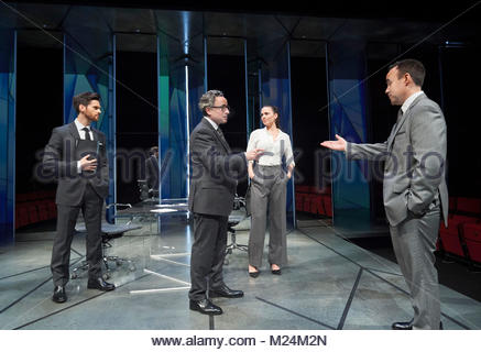 Dry Powder by Sarah Burgess. A Hampstead Theatre Production directed by Anna Ledwich. With Tom Riley as Seth, Aidan - Stock Image